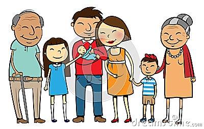 Big Asian family