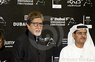 Big B with DIFF Chairman Abdul Hamid Juma Editorial Stock Photo