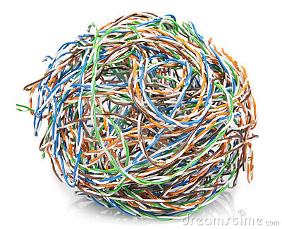 Big ball from a cable twisted pair