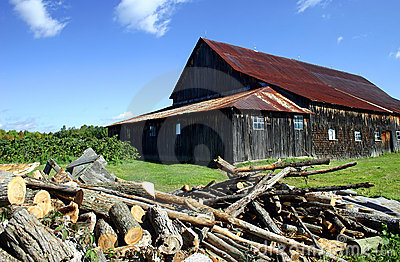 Big Barn with Rusted Tin Roof