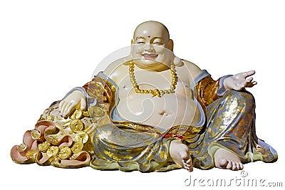 Big Belly Maitreya Cloth Bag Monk Statue