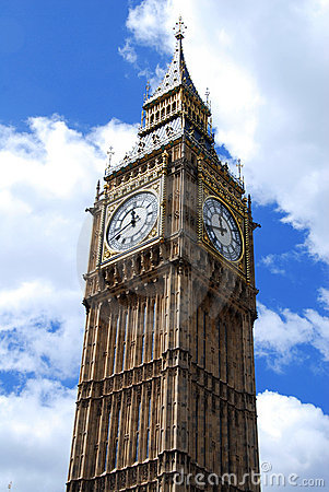 Big Ben against the sky