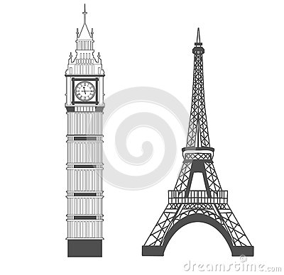 Free Big Ben And Eiffel Tower Royalty Free Stock Photography - 89784717