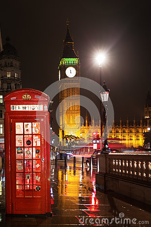 Free Big Ben And Houses Of Parliament Red Phone Booth Royalty Free Stock Photography - 80990627