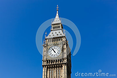 Big Ben with Blue Sky