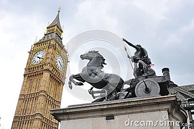 Big Ben and Boudica Statue