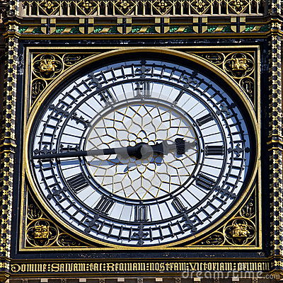 Free Big Ben Clock Face Detail In London Royalty Free Stock Photo - 30822415