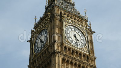Big Ben Clock Face Time Lapse. Stunning time-lapse of the famous Big Ben clock tower showing the dial spinning around racing through time. Very useful for