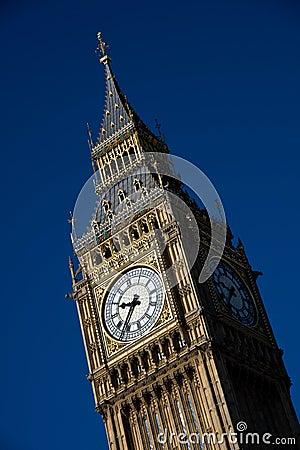 Big Ben clocktower against a clear blue sky Editorial Photo
