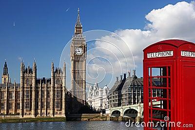 Big ben con la cabina telefonica rossa a londra for La cabina di zio ben