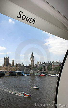 Big Ben and House of Parliament from a London Eye capsule - London Editorial Photo
