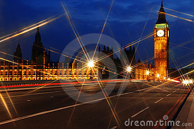 Big Ben and the House of Parliament at night