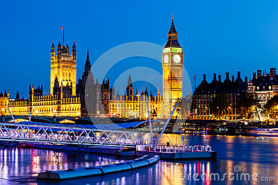 Big Ben and House of Parliament at Night