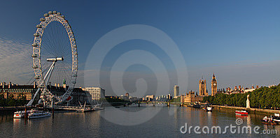 Big Ben and Houses of Parliament in London Editorial Stock Photo