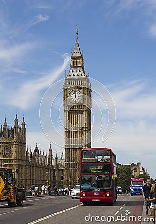 Big Ben in London Editorial Stock Photo