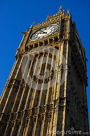 Big Ben in London close up