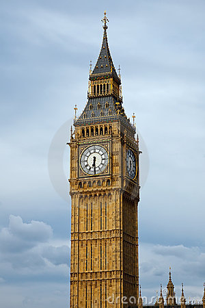 Big Ben in London at evening