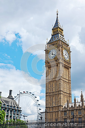 Big Ben and London Eye Editorial Photography