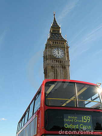 Big Ben and London Red Bus