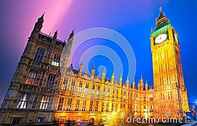 The Big Ben, London, UK.