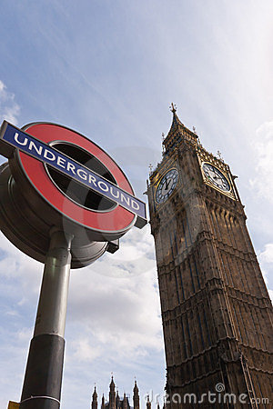 Big Ben London Underground Editorial Photography