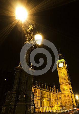 Big Ben at night Editorial Photography