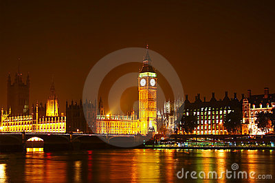 The Big Ben at night