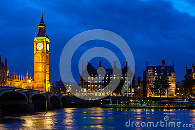 Big Ben at night. London, England
