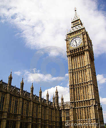 Big Ben of the Palace of Westminster,London, UK