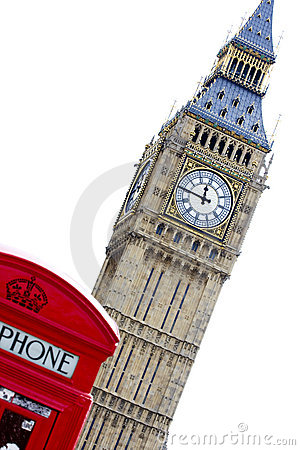 Free Big Ben Phone Box Royalty Free Stock Photos - 5088348
