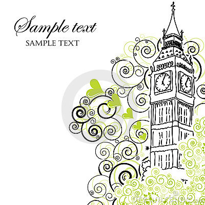Big Ben poster, cover or greeting card