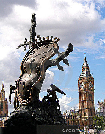 Big Ben and Sculpture