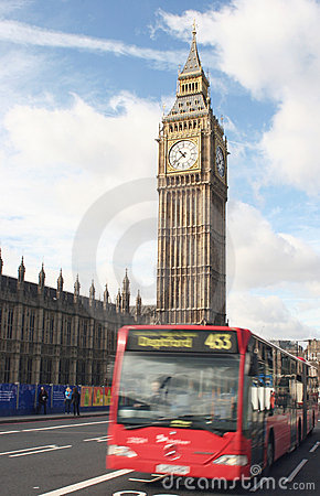 Big ben and single decker