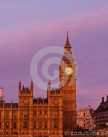 Big Ben sunset