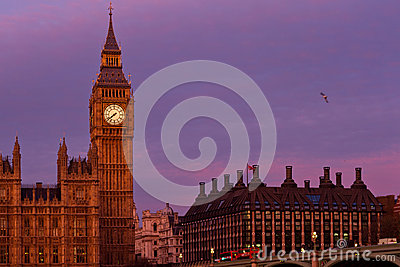 Big Ben sunset in London