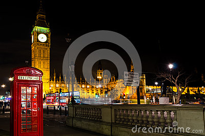 Big ben and telephone cab