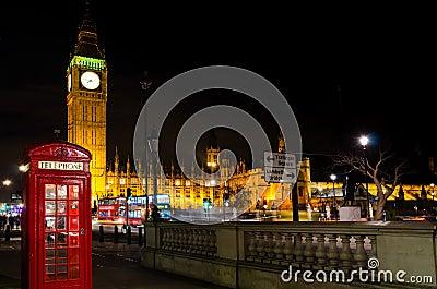 Big ben and telephone cab
