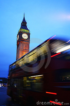 Big Ben Tower and bus, london