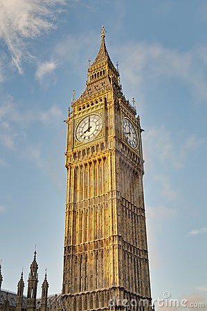 Big Ben tower clock at London, England
