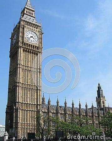 Big Ben tower in London, UK