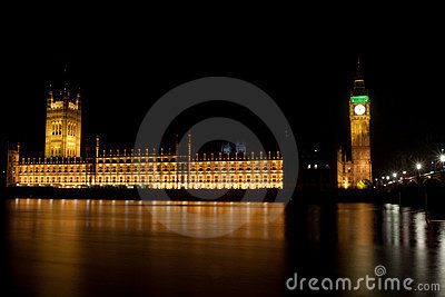 Big Ben Tower by night