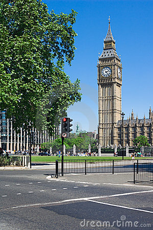 Big Ben Tower in Westminster, London, UK