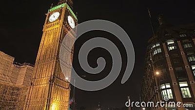 Big Ben und Verkehr stock video