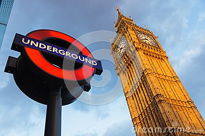 Big Ben and Undergraund Editorial Photography
