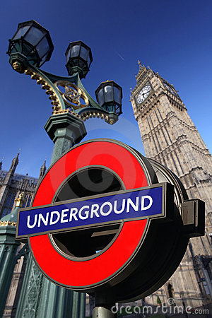 Big Ben with Underground, London, UK Editorial Image