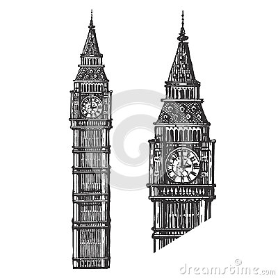 Big Ben Vector Logo Design Template England Or Stock