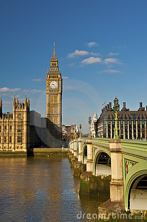 Big Ben And Westminster Bridge Royalty Free Stock Photos - Image: 13598308