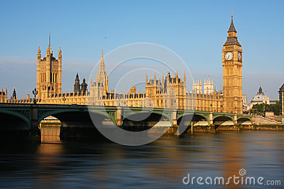 Big Ben and Westminster Palace in London
