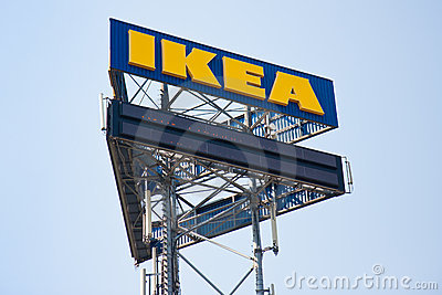 A big billboard of IKEA Editorial Photography