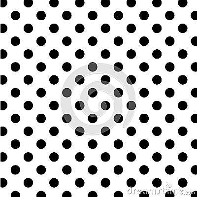 Free Big Black Polka Dots On White, Seamless Background Stock Photos - 7087443